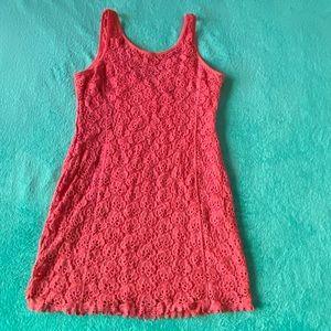 Sexy Salmon Colored Bodycon Dress